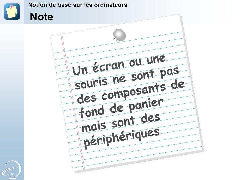 7-Apr-17 Notion de base sur les ordinateurs. [Title of the course] Note.
